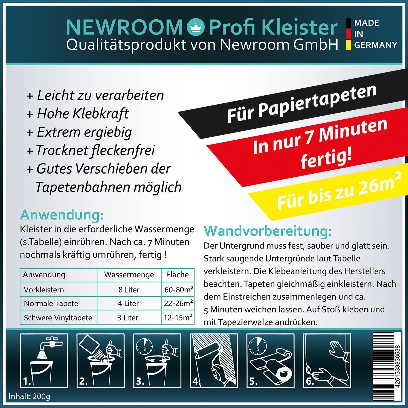 Ansprechend Vinyltapete Kleben Foto Von Premium Kleister Für Vliestapeten 200g (ca 20m²)