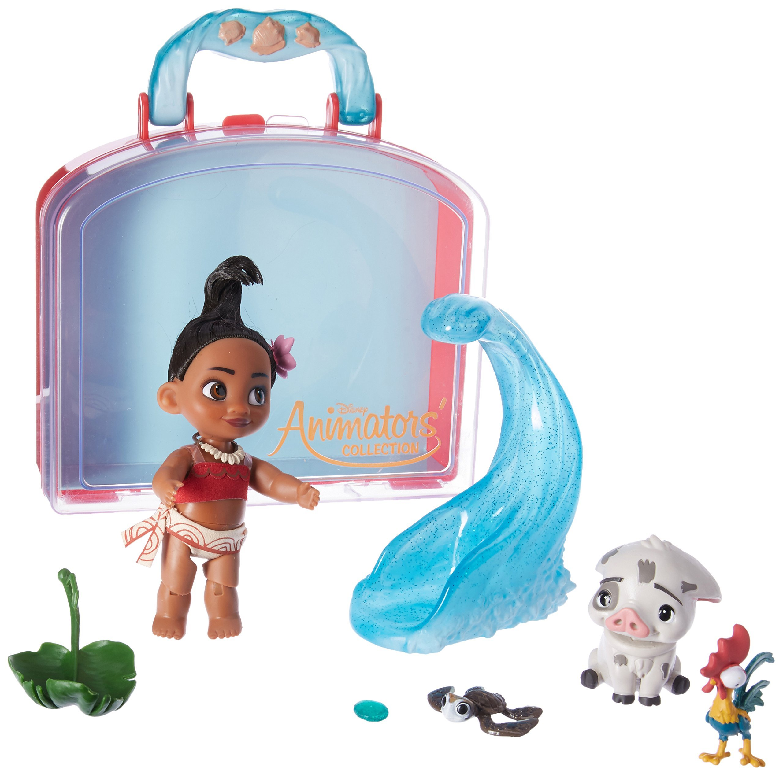 85603940a41 ... Play Set - 5 Inch. Disney Animators  Collection Moana Mini Doll with  detailed costume and rooted hair. Pua
