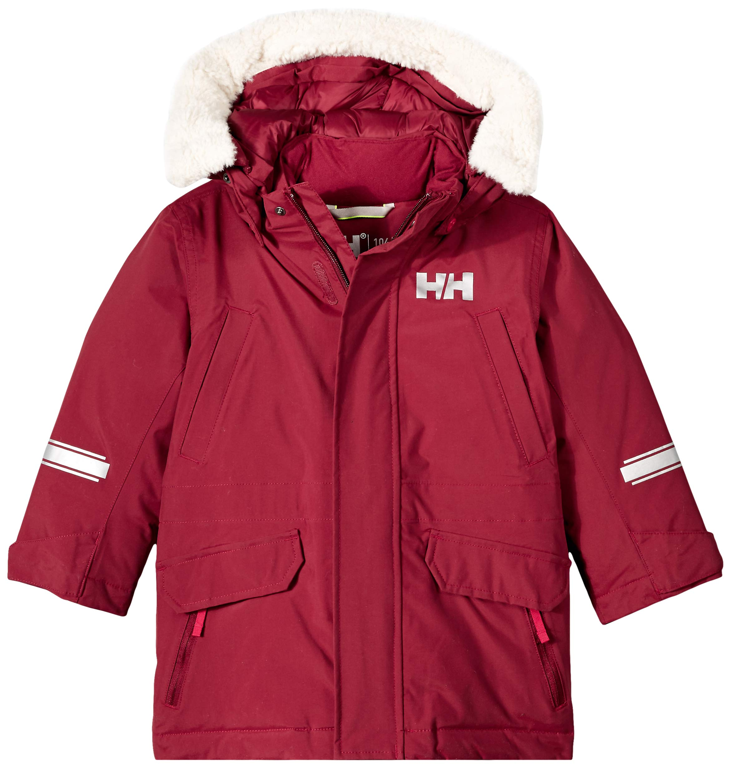 Helly Hansen K Isfjord Down Parka Jacket, Cabernet, Size 4 by Helly Hansen (Image #1)
