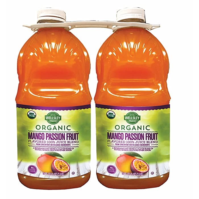 Wellsley Farms Organic Mango Passion Fruit Juice, 96 Fl. Oz., 2-Pk