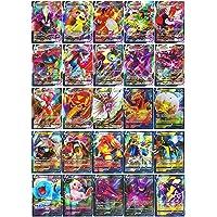 Pokemon Vmax 60 stycken kort (18 Vmax kort + 42 kort V) Flash-kort Pokémon V och Vmax Interactive Battle Card spel för…
