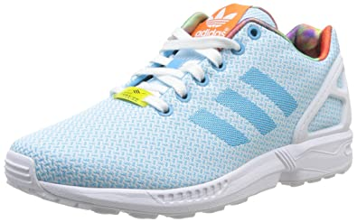 pick up c9e66 86f47 Adidas Zx Flux Weave, Baskets mode femme - Turquoise (Light Aqua Running  White