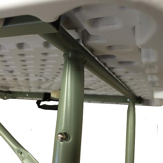 Redstone Mesa Plegable 122cm 3 Posiciones Ajustables de Altura ...