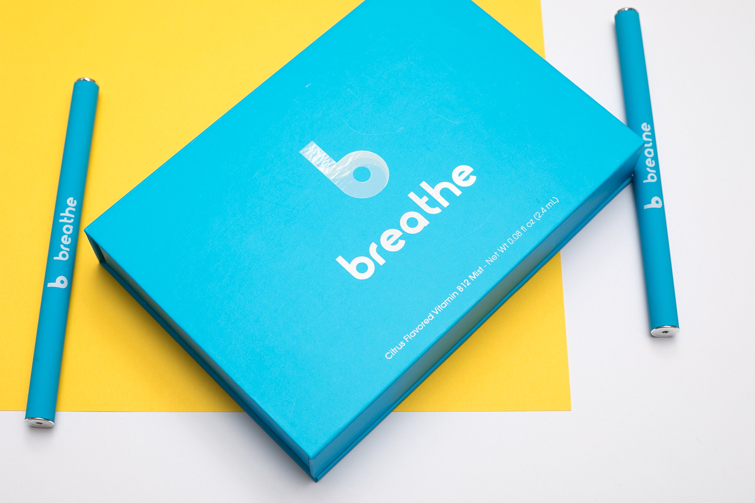 Breathe B12 Methylated Vitamin B12 Diffuser - Maximize Absorption with Nutritional Aromatherapy Inhaler (3-Month Supply) by Breathe B12