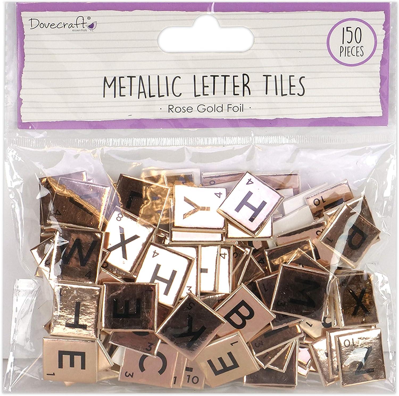 Dovecraft Dcbs225 Chipboard Letter Tiles, Multicolor, One Size: Amazon.es: Hogar