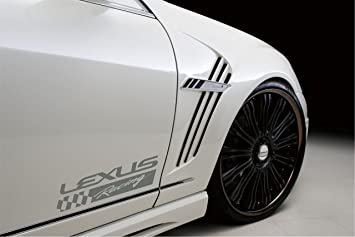 Amazoncom  Lexus Racing Vinyl Decal Sticker Silver Automotive - Lexus custom vinyl decals for car