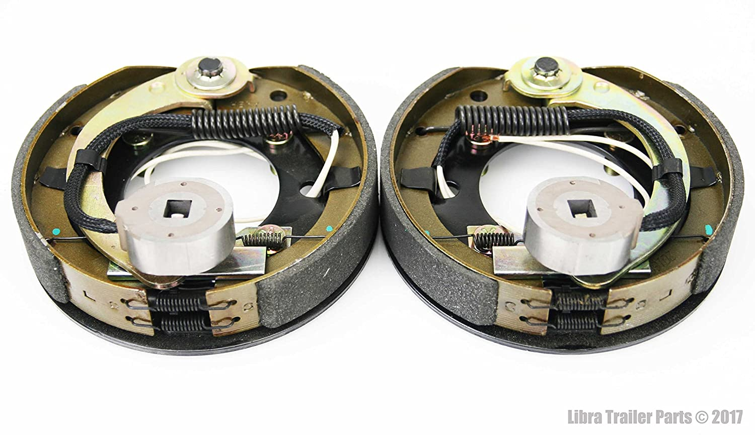New 7 X 1 4 Trailer Electric Brake Assembly Right Wiring Magnets Left 21001 Automotive