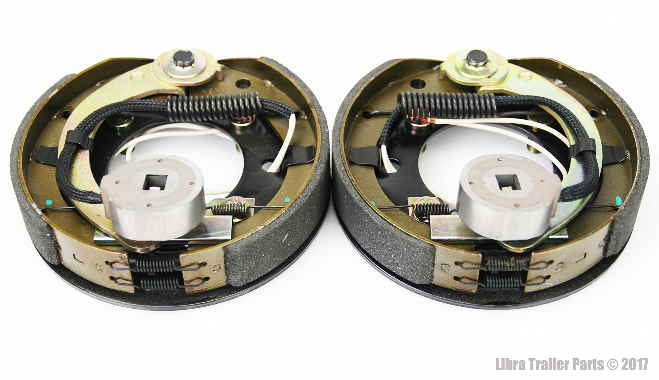 New 7'' X 1-1/4'' Trailer Electric Brake Assembly (1 Right + 1 Left) - 21001