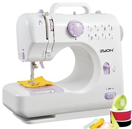 Máquina de coser compacta de doble hilo y doble velocidad (Alta/Baja) con