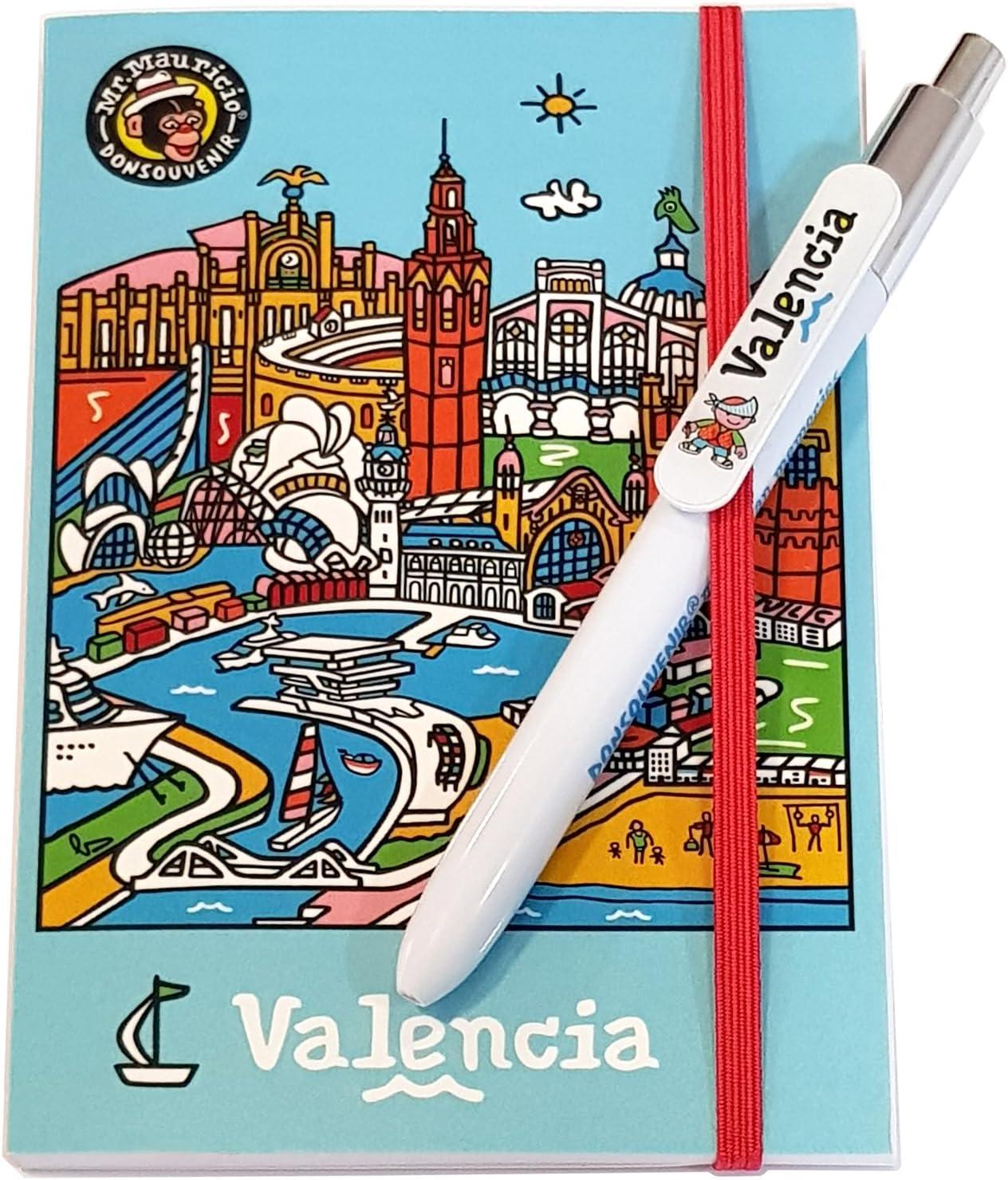 LIBRETA Y BOLIGRAFO VALENCIA.