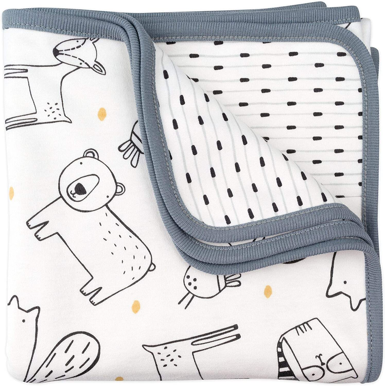 Mac /& Moon 2-Ply Reversible Receiving Blanket