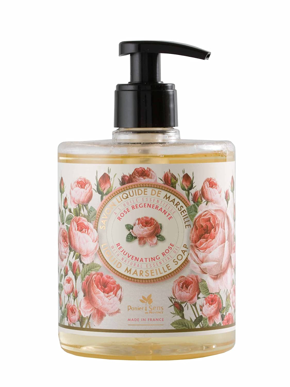 Panier des Sens Liquid Marseille Soap, Rejuvenating Rose, 16.9 Ounce