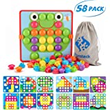 Fansteck Button Art Toy for Toddlers, Color Matching Early Learning Educational Mosaic Pegboard , Safe Nontoxic ABS…