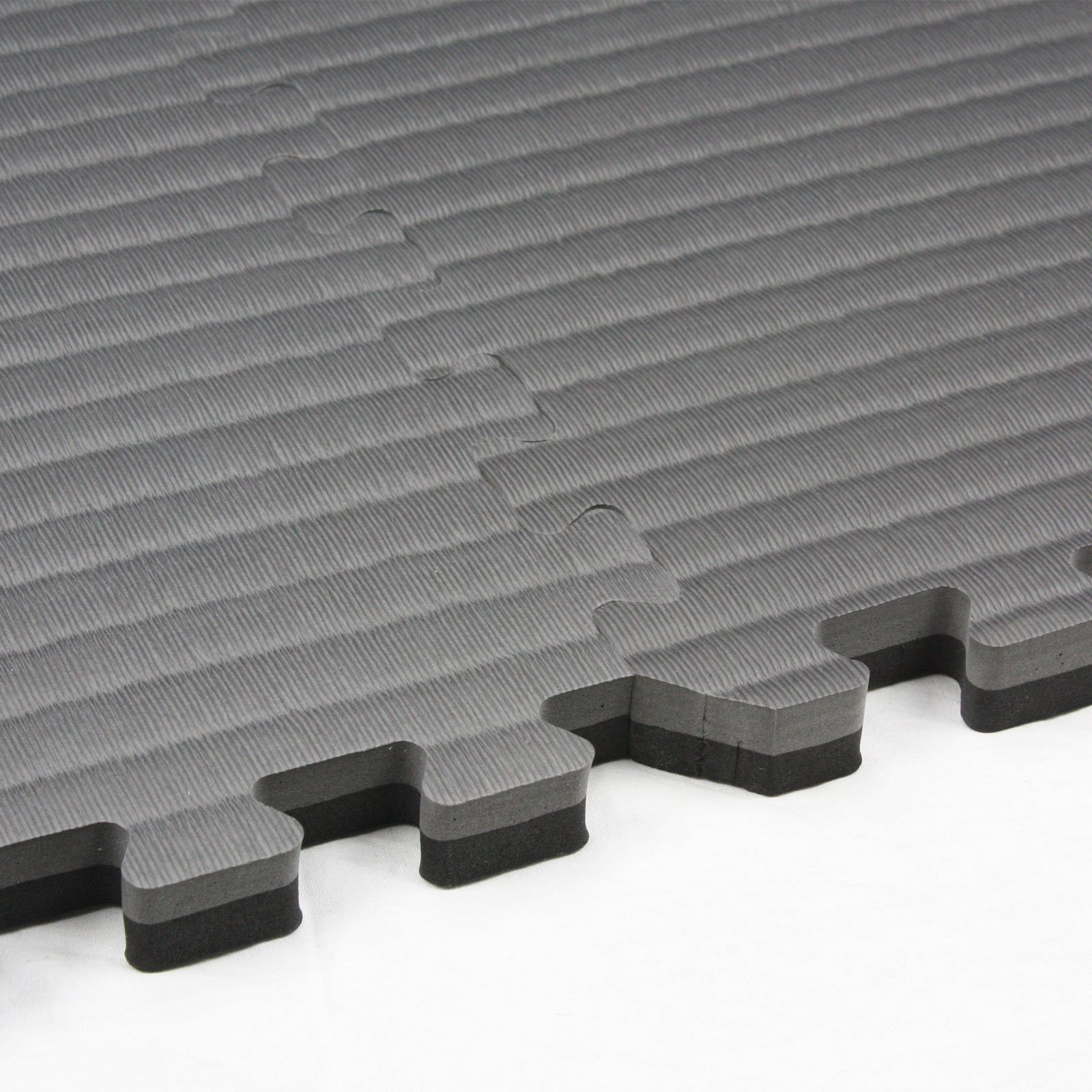 IncStores - Tatami Foam Tiles (Black/Grey, 16 Tiles) - Extra Thick mats Perfect for Martial Arts, MMA, Lightweight Home Gyms, p90x, Gymnastics, Yoga, Cardio, Aerobic, and Exercises by IncStores (Image #4)