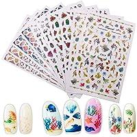 10 vellen Cartoon Nagelstickers,3D-nagelsticker Leuke Cartoon Nail Decals,HOINCO voor Dames Salon Thuis Nagelkunst…