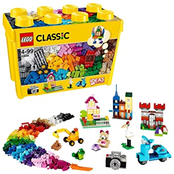 2dbe53f88d2e LEGO 10698 Classic Large Creative Brick Box Construction Set, Toy Storage,  Fun Colourful Toy