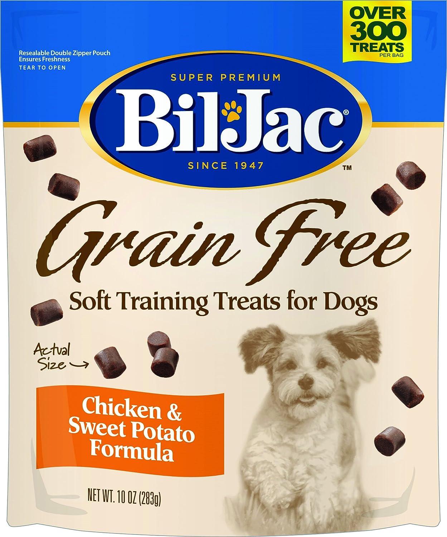 8 Pack Bil-Jac Grain-Free Soft Dog Training Treats, 10 Ounces Each
