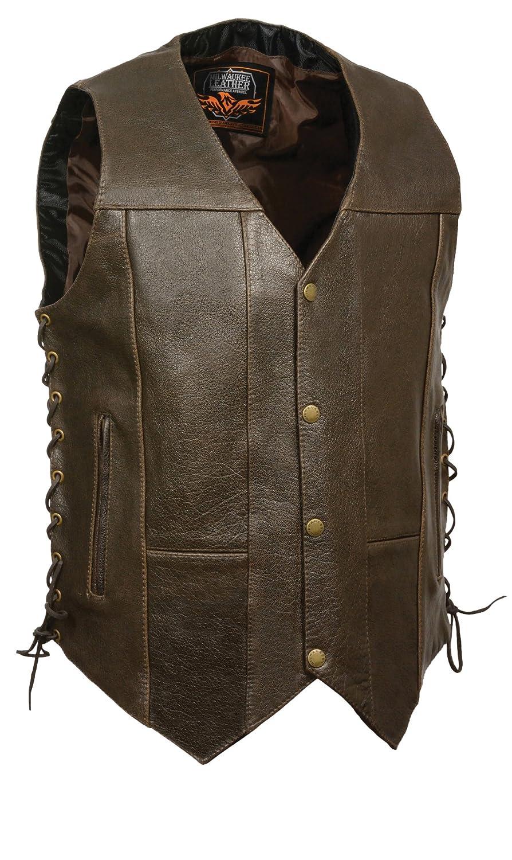 Retro Brown, Size 50 Milwaukee Mens Classic 4 10-Pocket Vest