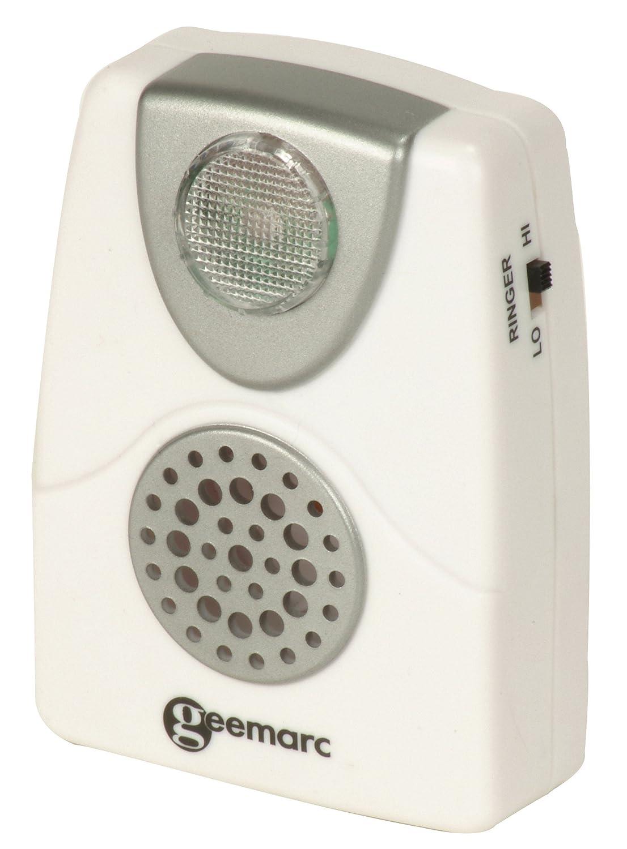 Geemarc CL11Geemarc CL11 Akustische Telefon-Anrufanzeige mit Blitzlicht – Klingeltonverstärker bis 95 dB Geemarc Telecom S.A CL11_WH