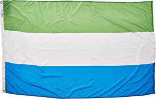 product image for Annin Flagmakers Model 197325 Sierra Leone Flag Nylon SolarGuard NYL-Glo, 4x6 ft, 100% Made in USA to Official United Nations Design Specifications
