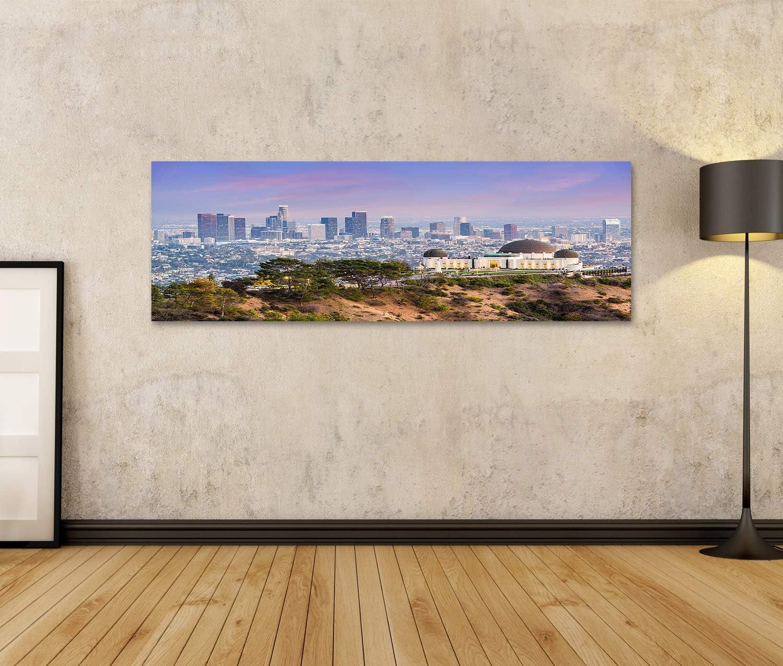 islandburner Tableau Tableaux Los Angeles Californie USA City Center Skyline of Griffith Park Cadre sur Toile Impression Photo Affiches
