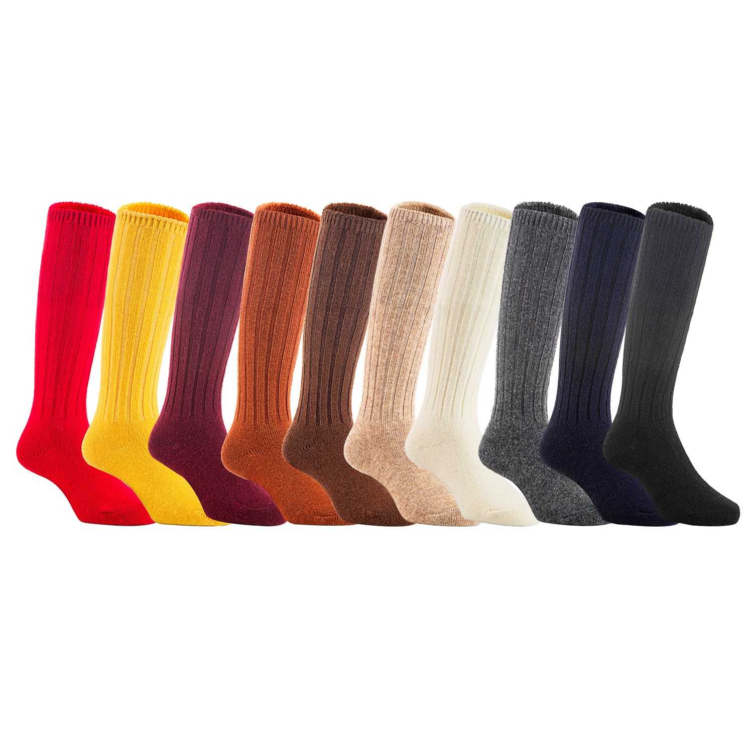 Lian LifeStyle Unisex Baby Children 4 Pairs Knee High Wool Blend Boot Socks 3 Sizes 14 Colors