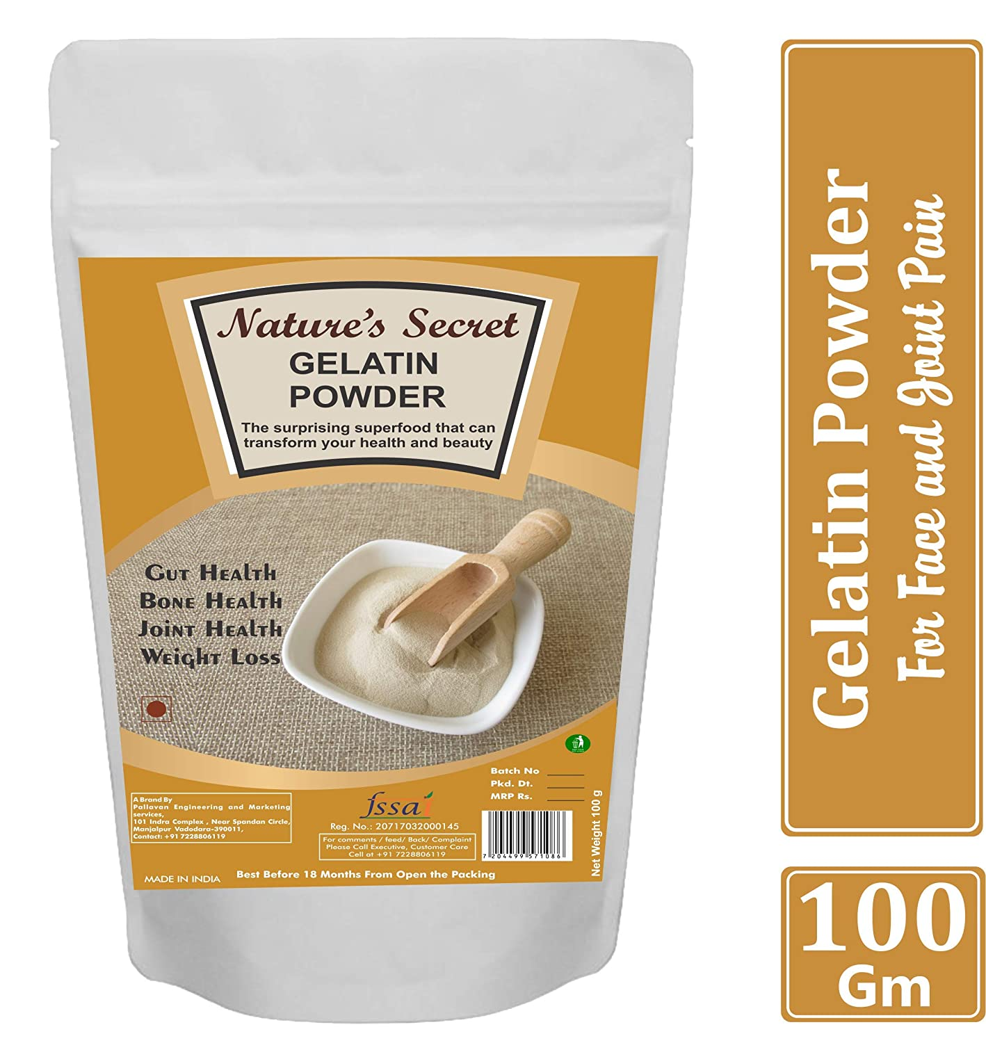 Buy Nature S Secret Gelatin Powder For Face Mask Hair Removal And