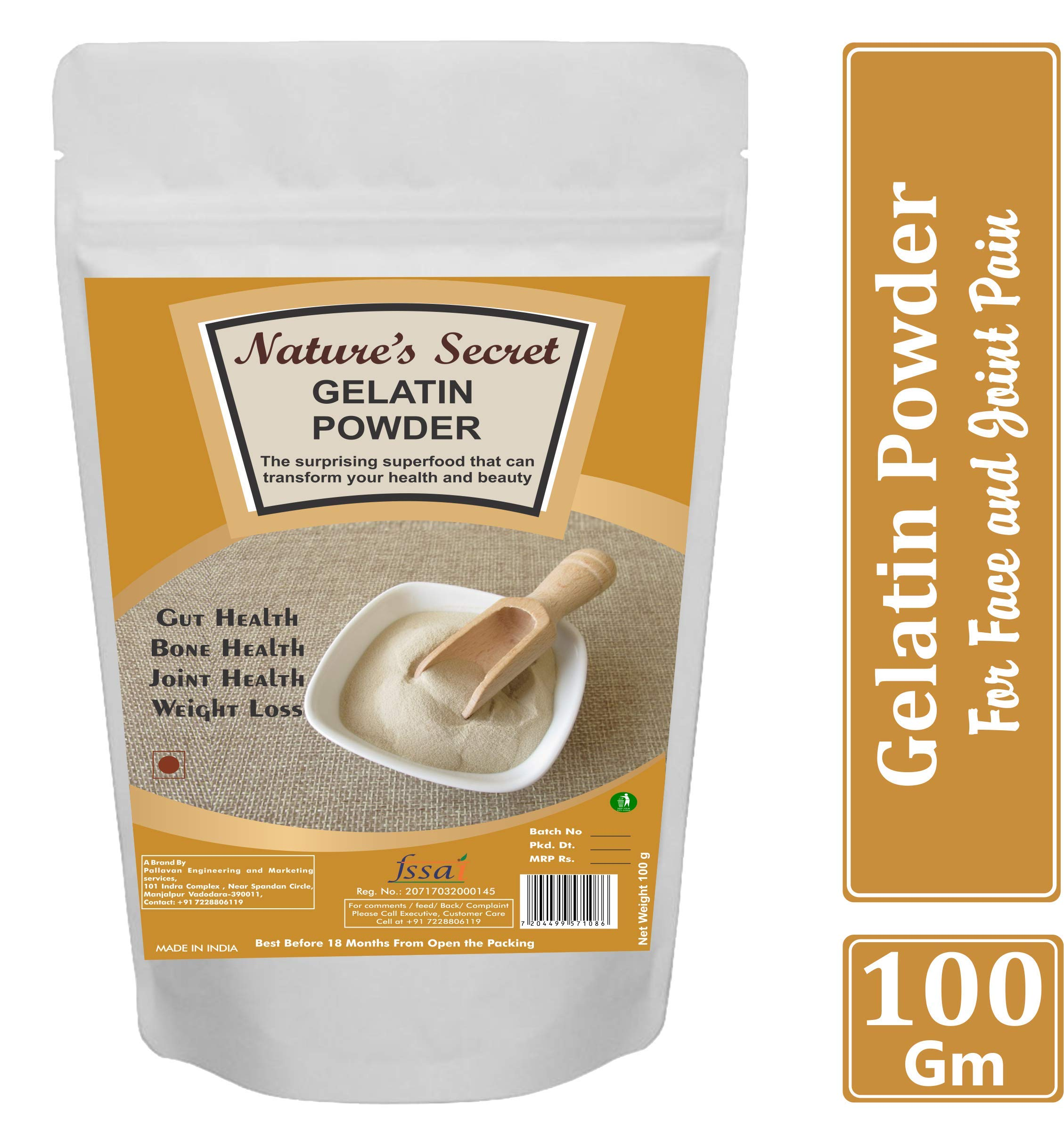 Nature S Secret Gelatin Powder For Face Mask Hair Removal And