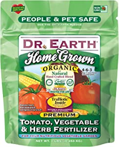 Dr. Earth 73416 1 lb 4-6-3 MINIS Home Grown Tomato, Vegetable and Herb Fertilizer