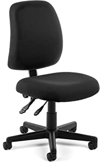 Superieur OFM Posture Series Model 118 2 Armless Swivel Task Chair, Fabric, Mid Back