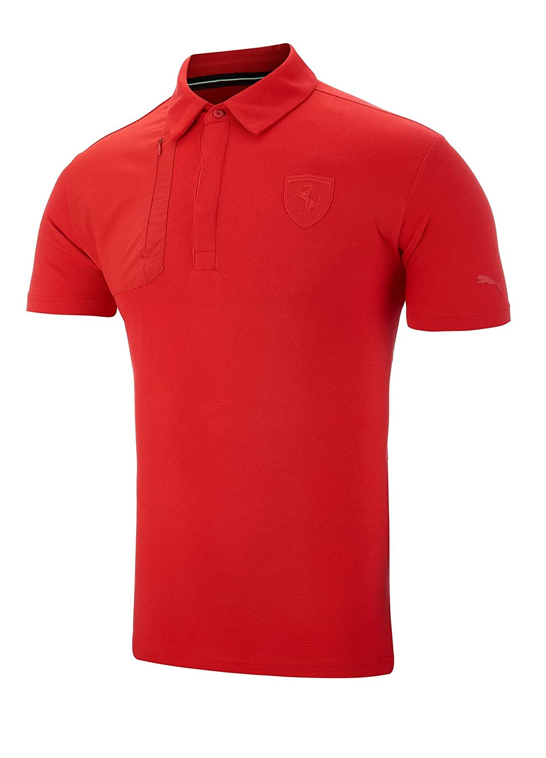 Polo Puma Ferrari Lifestyle, Hombre, rojo, Medium: Amazon.es ...