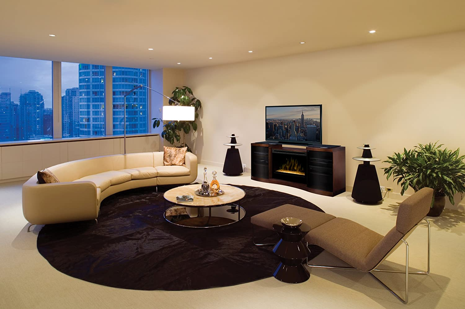 Electric Fireplace Media Center ~ dact.us