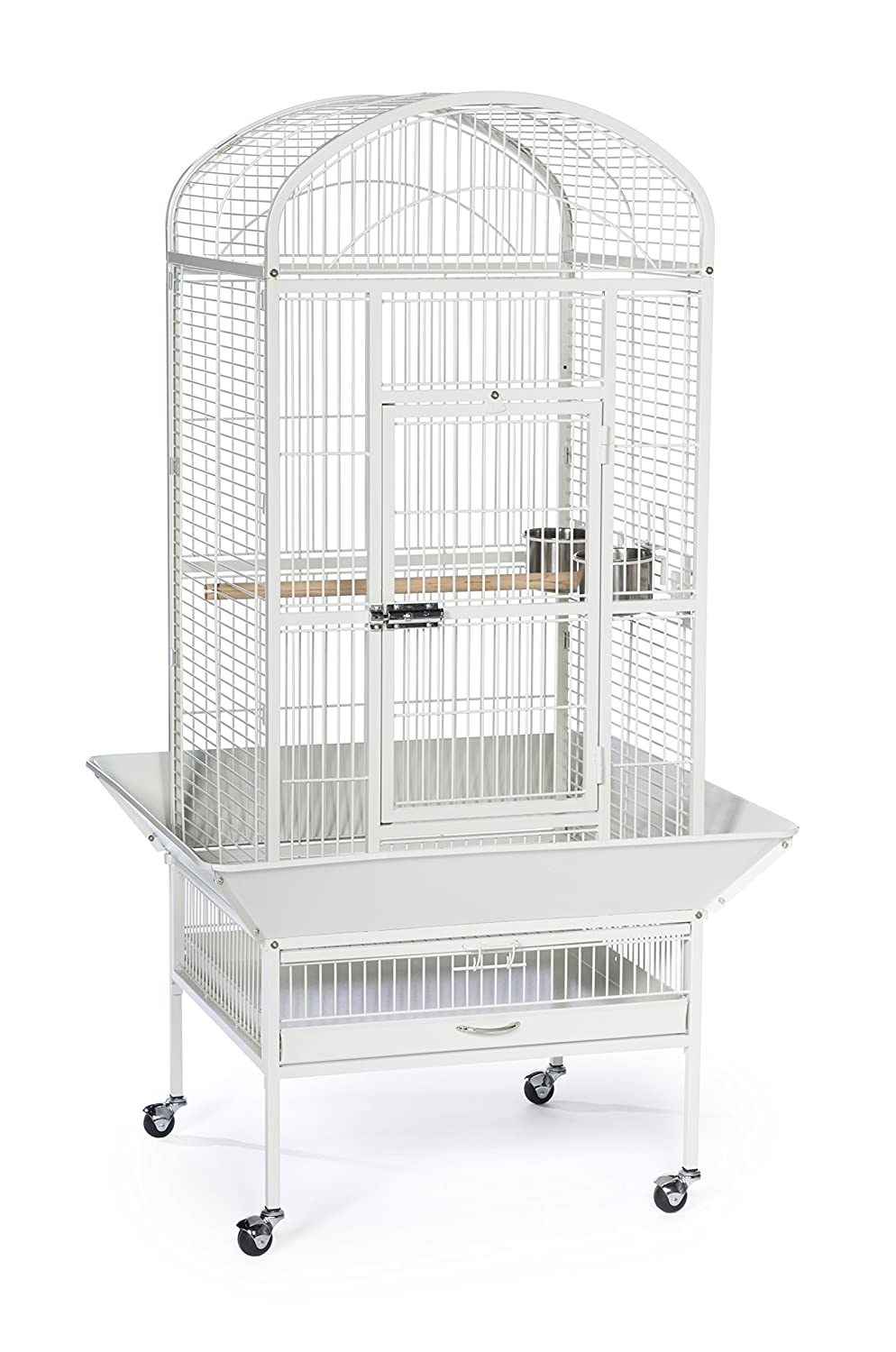 Chalk White PREVUE PET PRODUCTS 34522 Dometop Bird Cage, Large, Chalk White