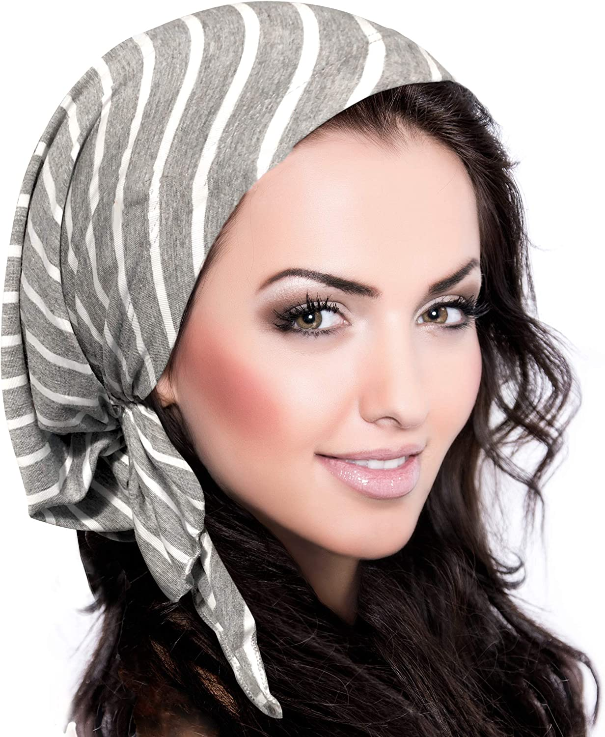 ShariRose Pre-Tied Cotton Headwear Headscarf Chemo Cancer /& Tichel Friendly Over 30 Colors!