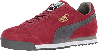 PUMA Men s Roma Gents Sneaker red Dahlia-Dark Shadow White-Rock Ridge 3bc86ff08