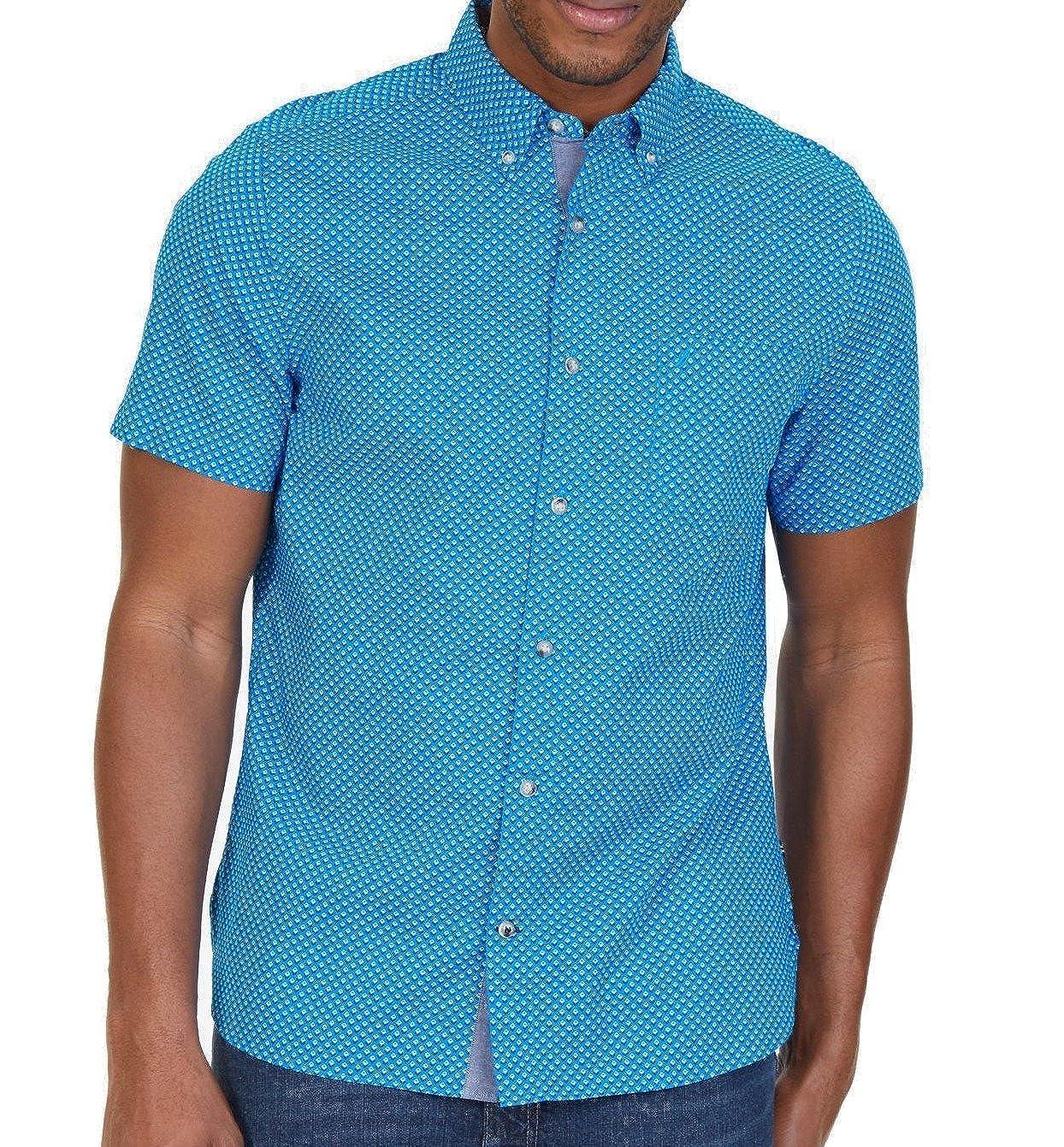 Nautica Mens Geo-Illusion Button Up Shirt