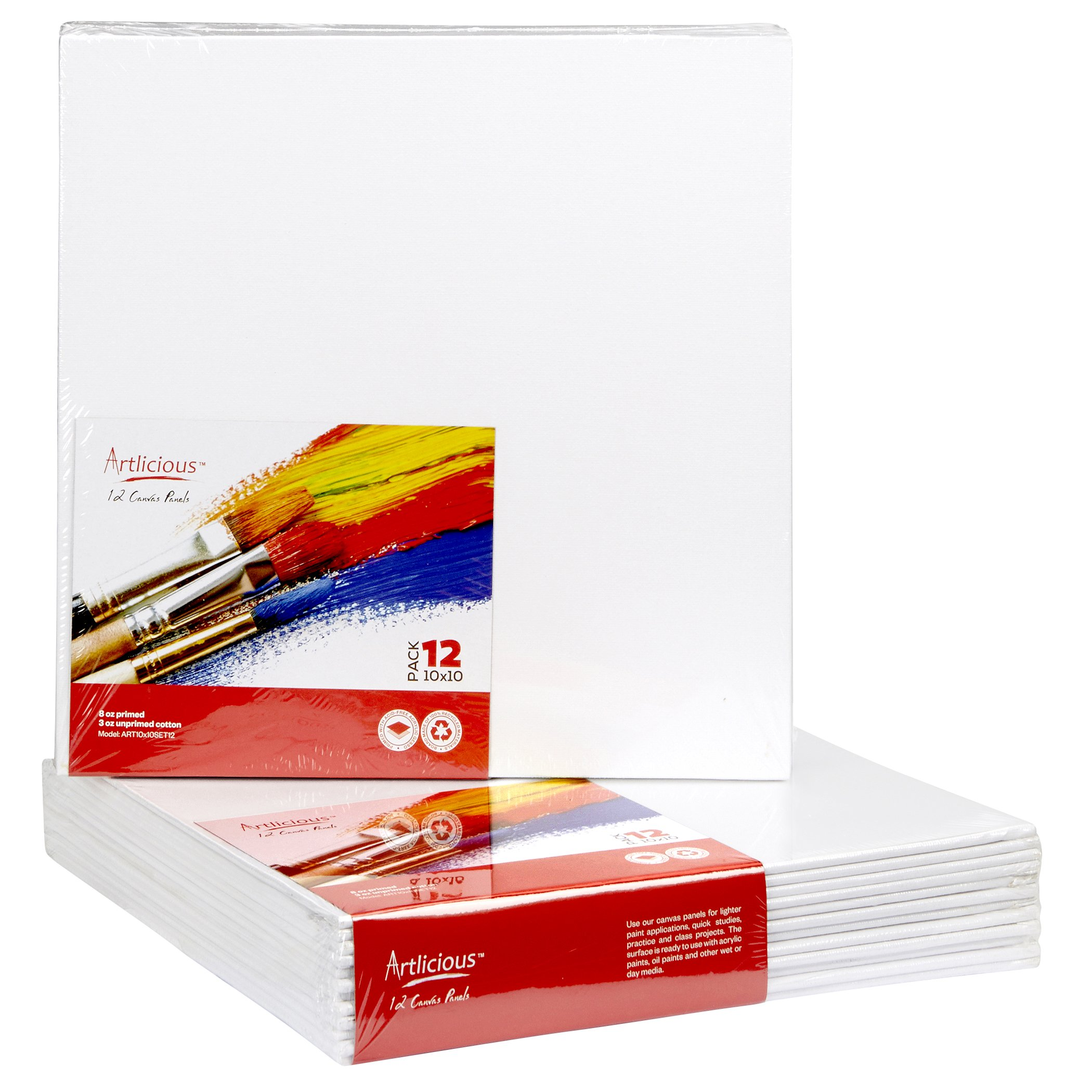 Artlicious - 8x10 Classroom Super Value 24 Pack - Artist Canvas Panel Boards for Painting by Artlicious (Image #1)
