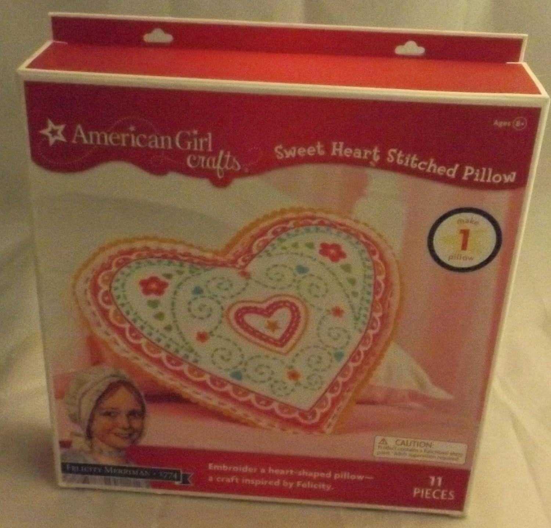 Felicity Sweet Heart EKSuccessBrands 30-662117 ds-tru-F2BF3091 EK Success American Girl Crafts Embroidered Pillow Kit