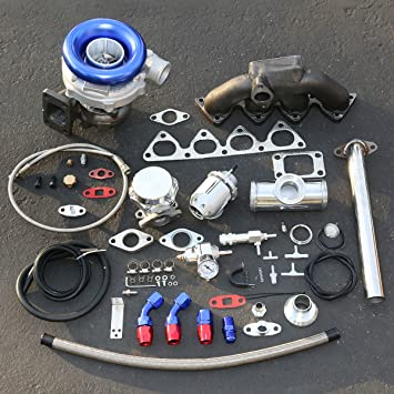For Honda Civic CRV Compatible B-Series High Performance 13pcs T04E Turbo Upgrade Installation Kit