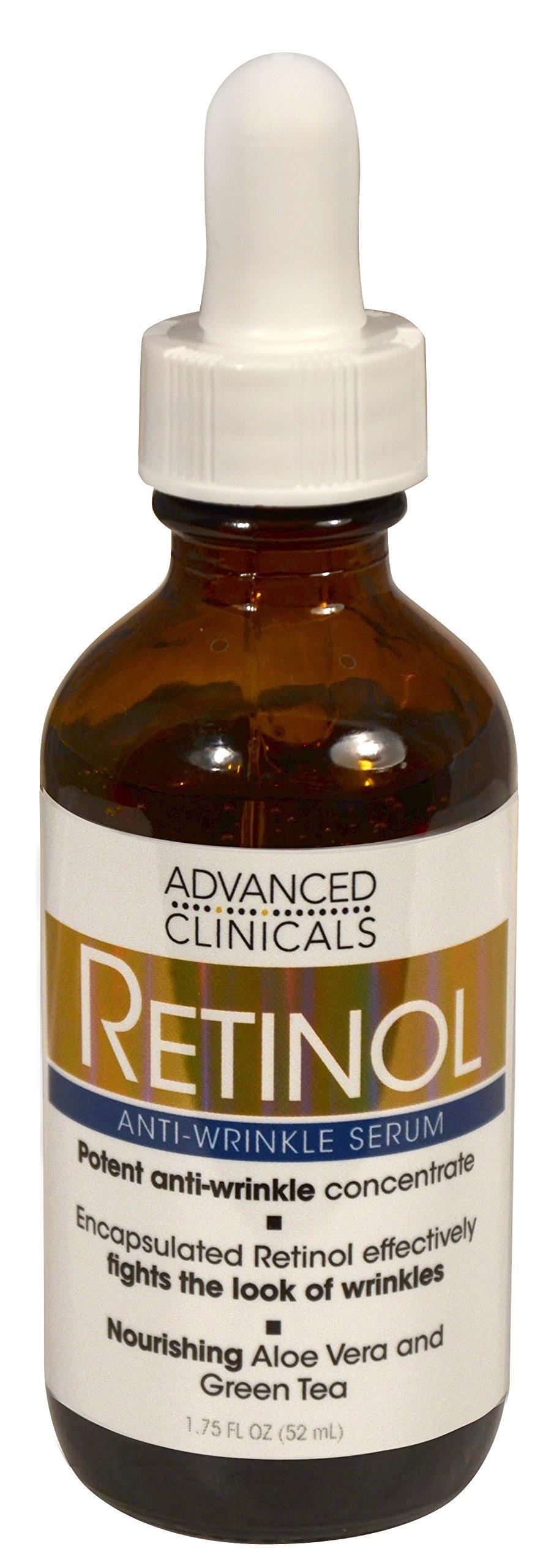 Advanced Clinicals Professional Strength Retinol Serum. Anti-aging, Wrinkle Reducing 1.75 Fl Oz.