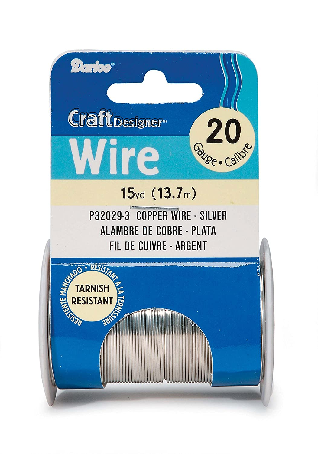 Darice Beading 20 Gauge 15yd-Silver Colored Copper Wire 36876