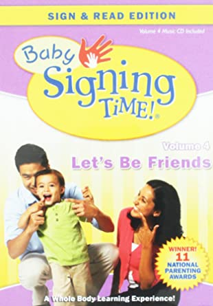 Amazoncom Baby Signing Time Vol 4 Lets Be Friends Dvd Music Cd
