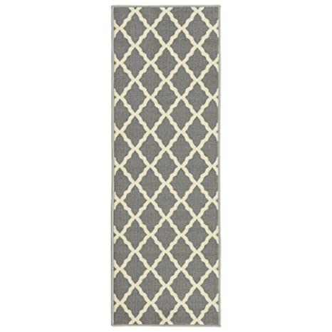Cool Ottomanson Glamour Collection Contemporary Moroccan Trellis Design Kids Lattice Area Rug Non Slip Inspirational - Latest Grey Kitchen Mat For Your Plan
