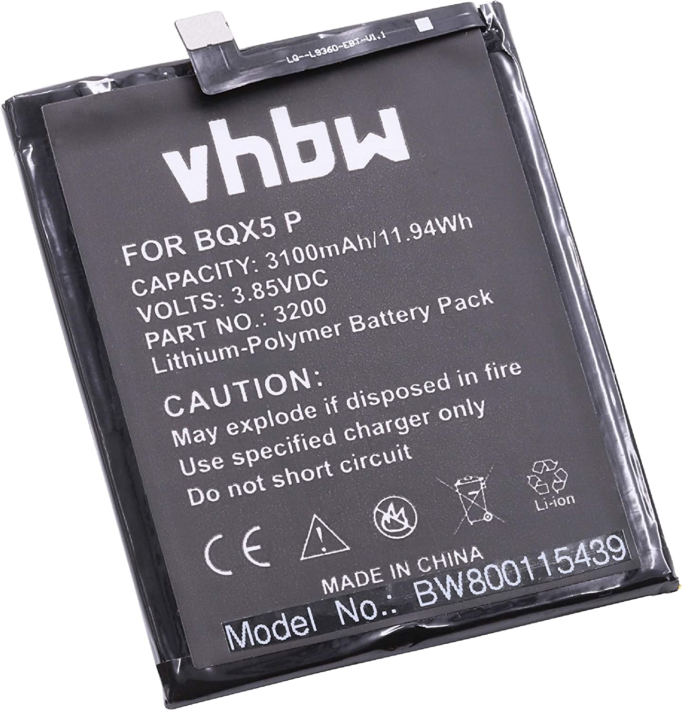 vhbw Litio polímero batería 3100mAh (3.85V) para móvil Smartphone ...