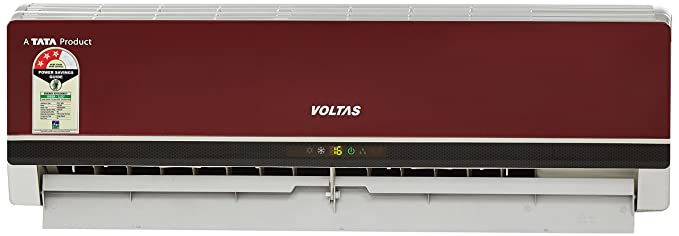Voltas 1 Ton 3 Star (2018) Split AC (Copper, 123 PZY-R, Red)