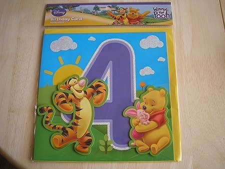 Disney Winnie L Ourson Fabrique A La Main Carte D Anniversaire 4 Ans Livraison Gratuite Amazon Fr Cuisine Maison
