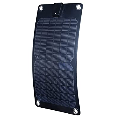 Nature Power 56802 5-watt Semi-Flex Monocrystalline Solar Panel Battery Maintainer, 12-volt : Garden & Outdoor