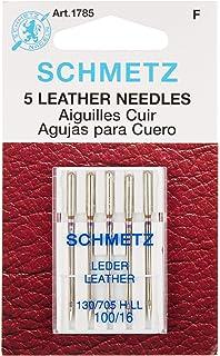 Euro-Notions Schmetz Leather Machine Needles, Size 16/100 5/Pkg