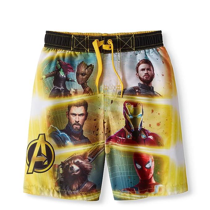 1c24e1d5a Amazon.com: Marvel Comics Avengers Infinity War Swim Trunk: Clothing