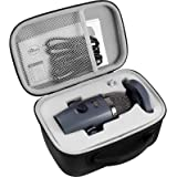 Microphone Case Compatible with Blue Yeti Nano Premium USB Mic, Carrying Storage Holder Fits for Cables and Other Accessories